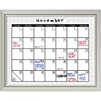 framed glass dry erase board large beige damask calendar outer