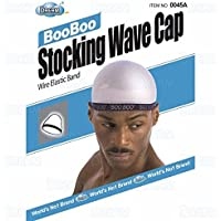 Dream, Boo Boo STOCKING WAVE CAP, Wire Eastic Band (Item #045 White)