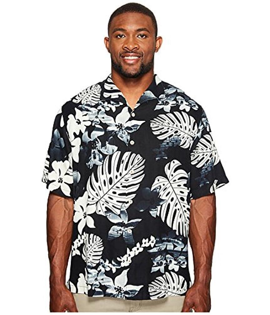 常習的可聴ピカリング(トミーバハマ)Tommy Bahama メンズシャツ?ワイシャツ Big & Tall Aloha Fronds Camp Shirt Coal 4XT 4XL Tall [並行輸入品]