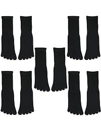 5足セット シルク 五本指 ソックス 絹 靴下 レディース メンズ