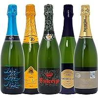 本格シャンパン製法の泡5本セット((W0P510SE))(750mlx5本ワインセット)