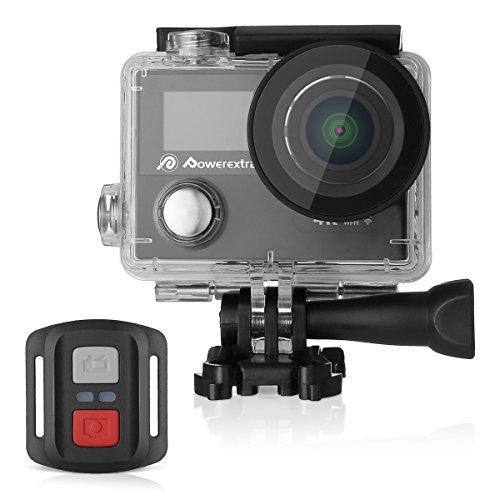 Powerextra アクション カメラ 4k スポーツカメラ 4k アクションカメラ wifi アクションカム 30M防水 1200MP ウェアラブルカメラ HD動画対応 リモコン付 170°広角レンズ カヌー サーフィンバイク 自転車 車に取り付け可能 X6 防水ケース付 1050mAhバッテリー付属 ブラック 品質保証