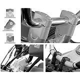 SW-MOTECH: YAMAHA FJR1300用 ハンドルバー ライザー -シルバー- 並行輸入品