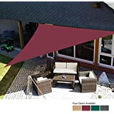 Cloudsky Sun Shade Sail Waterproof Outdoor Garden Patio Party Sunscreen Awing 3x3x3m / 3.6x3.6x3.6m Triangle Canopy 98% UV Block with Free Rope