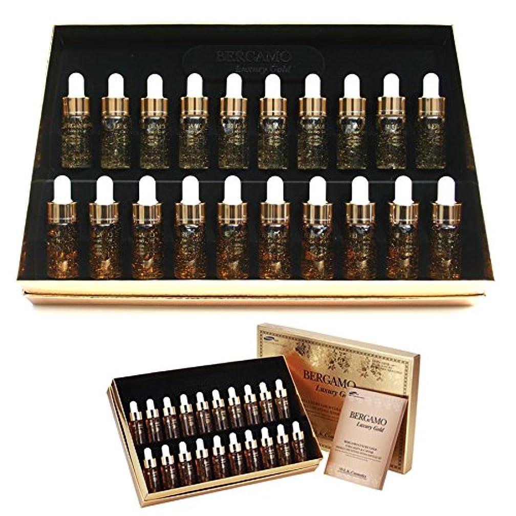 速度批判的に増強する[ベルガモ] Bergamo/ラグジュアリーゴールドコラーゲン&キャビアリンクルケアアンプルセット13ml * 20ea/Luxury Gold Collagen & Caviar Wrinkle Care Repair...