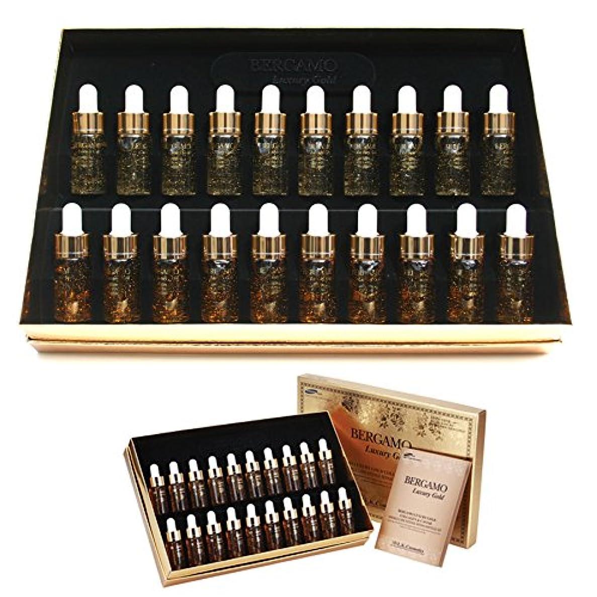 のど舗装言い聞かせる[ベルガモ] Bergamo/ラグジュアリーゴールドコラーゲン&キャビアリンクルケアアンプルセット13ml * 20ea/Luxury Gold Collagen & Caviar Wrinkle Care Repair...