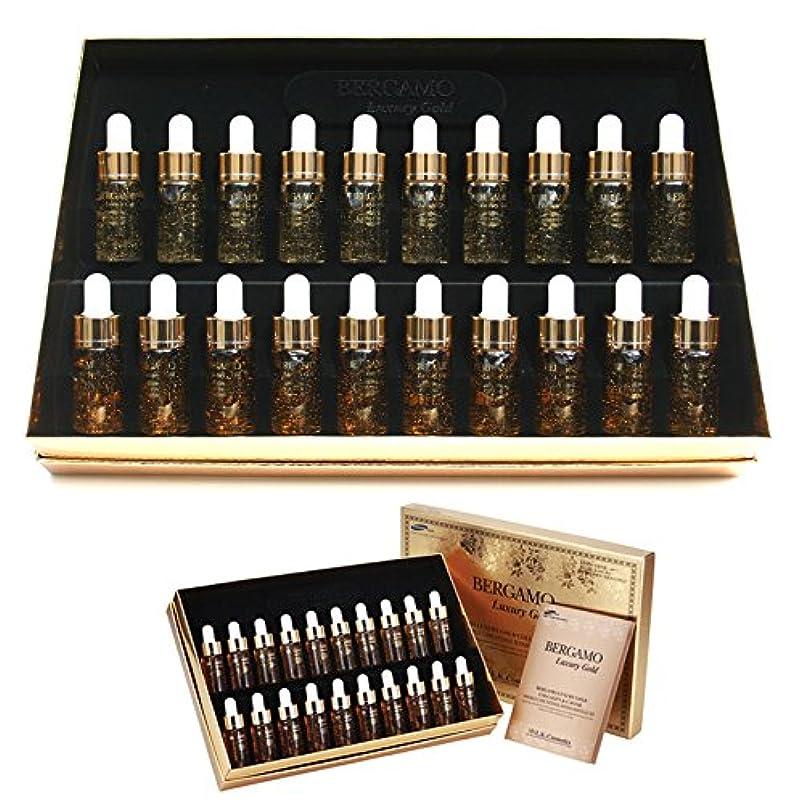 私ミシンエイリアス[ベルガモ] Bergamo/ラグジュアリーゴールドコラーゲン&キャビアリンクルケアアンプルセット13ml * 20ea/Luxury Gold Collagen & Caviar Wrinkle Care Repair...