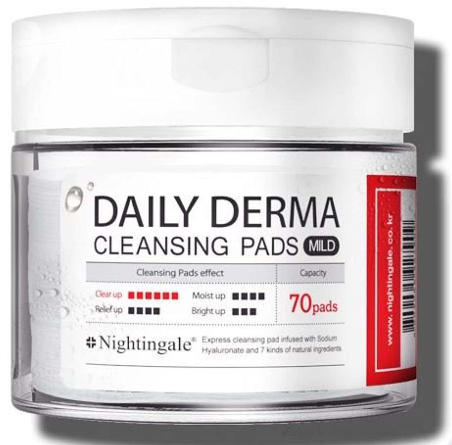 一次マインド振動するNightingale Daily Derma Cleansing Pads * Mild * 70pads/ナイチンゲール デイリー ダーマ クレンジング パッド * マイルド * 70枚入り [並行輸入品]