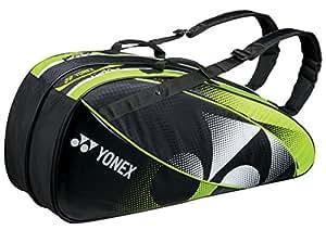 ヨネックス(YONEX) ラケットバック 6 (リュック付き、テニス6本用) ブラック×ライムグリーン BAG1522R