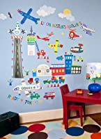 Oopsy Daisy Airport Peel and Place Wall Art, 54 by 45 by Oopsy Daisy