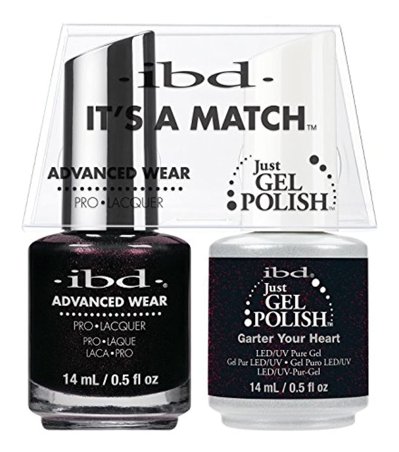 クレアスライス宙返りibd - It's A Match -Duo Pack- Garter Your Heart - 14 mL / 0.5 oz Each