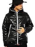 (エイト) 8(eight)12color 中綿 ダウンジャケット ナイロン ブルゾン アウター 防寒 アウトドア ブラック XL