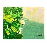 """花on the Shore???Affordable元Fineアート???11?"""" x 14?"""" Colored Pencil Painting /図面by Carol Ann 'sアート"""