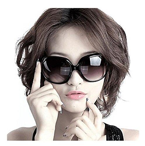 Aharan9 (アハランナイン)大きいフレーム サングラス レディース メガネケース付き UV400 紫外線 カット 小顔効果