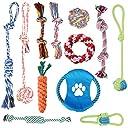 犬 おもちゃ 犬のおもちゃ Ninonly 小中型犬おもちゃ いぬのおもちゃ 犬おもちゃ噛む 犬ロープおもちゃ 犬用おもちゃ ペットおもちゃ犬 犬 歯磨き 丈夫 天然コットン 安全清潔 ストレス解消 耐久性 (12個セット)