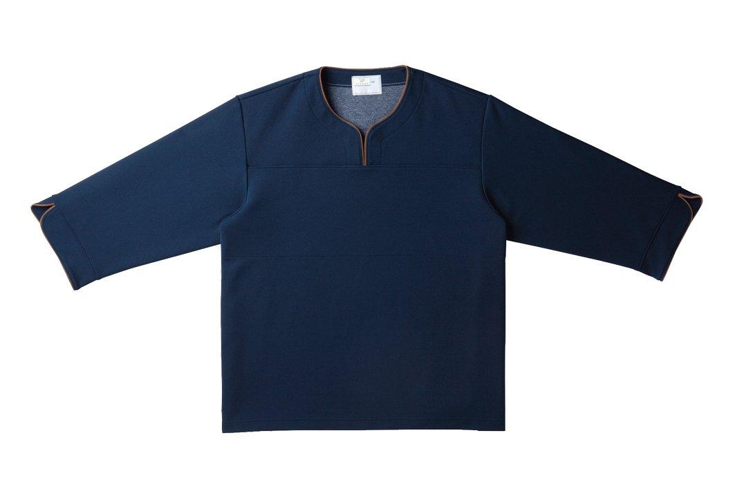 キラク 検診用シャツ S CR841-88-S 検査衣/患者衣 取寄品