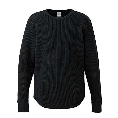 ワッフル ロングスリーブ Tシャツ 10.3オンス メンズ ヘヴィーウエイト ファッション トップス Tシャツ 長袖 無地 XL 006.ミックスグレー