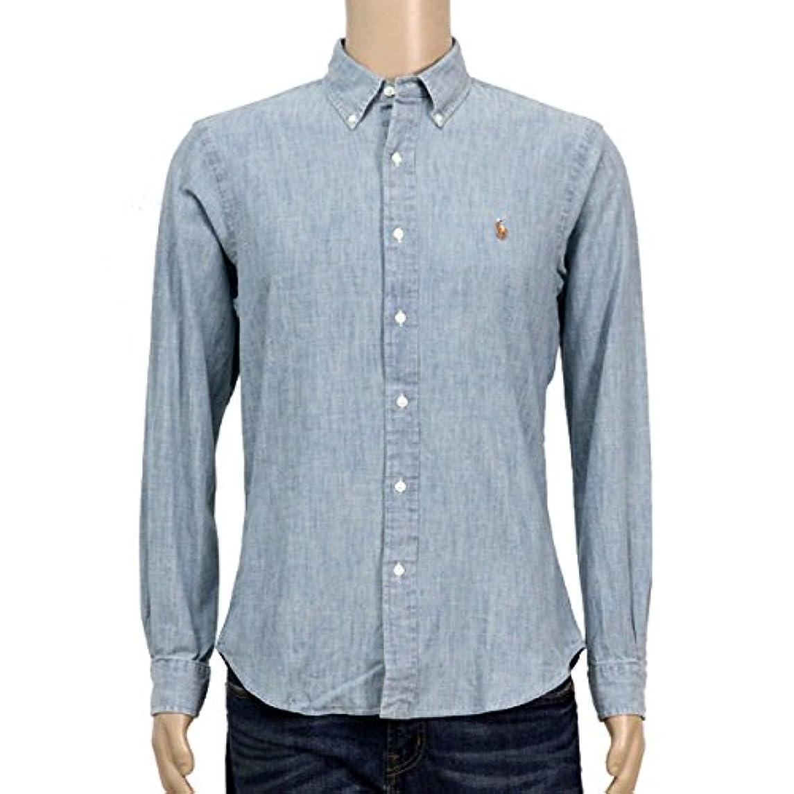 羊のカタログ記事[ポロ ラルフローレン] POLO RALPH LAUREN 正規品 メンズ 長袖シャツ Slim-Fit Chambray Shirt 並行輸入品 (コード:4100830503)