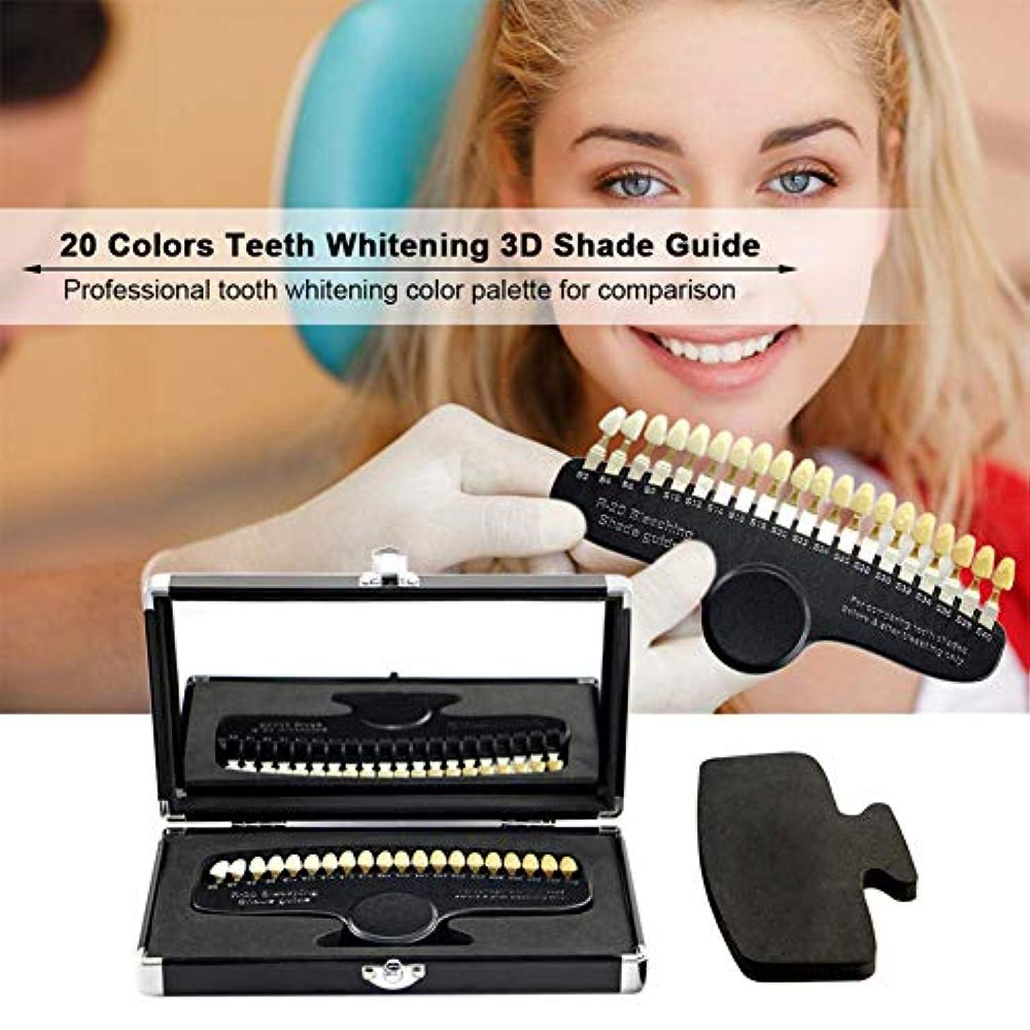 床を掃除する誤って提供カラーパレットを白くする専門の歯科歯、ミラーが付いている20色のカラーパレットの歯冷たい色の白くなるカラーパレット比色の精密