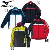 (ミズノ) MIZUNO ウインドブレーカーシャツ 陸上競技ウェア ウインドブレーカー (51WS-360) L 96:レッド