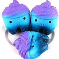 Callm 1パックSquishy Galaxy Tooth Slow Rising Squishies Stress Reliefハンバーガーケーキクリーム香りつきSqueeze子供大人おもちゃギフト