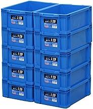 Astage(アステージ) 収納ボックス NFボックス #13 ブルー 奥行43.5×高さ14.5×幅28.7cm 10個セット