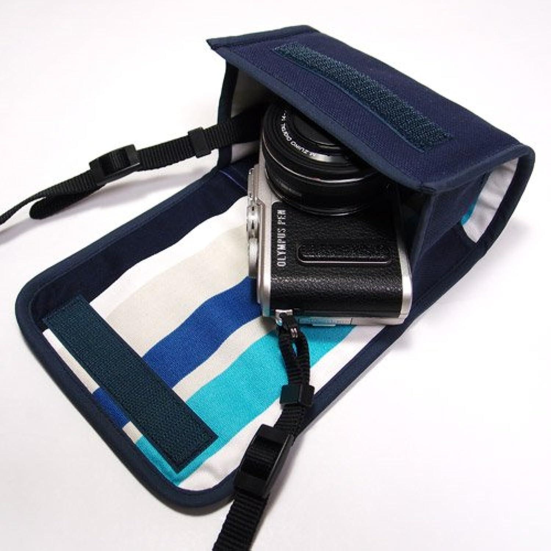 suono(スオーノ) オリンパスペンLite E-PL9ケース /E-PL8ケース(ネイビー)--14-42mm EZ レンズキット用 --ハンドメイド
