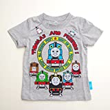 きかんしゃトーマス 半袖Tシャツ 100cm/110cm/120cm (742TM0041) (100cm, 杢グレー)