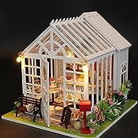 Liebeye ミニ木製おもちゃ ライト付き 家組立ドールハウス子供のおもちゃクリスマスバースデーギフト
