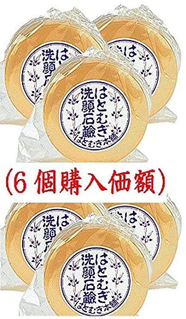 ローラー意気込み天のはとむぎ洗顔石鹸(6個購入価額)皇漢薬品研究所