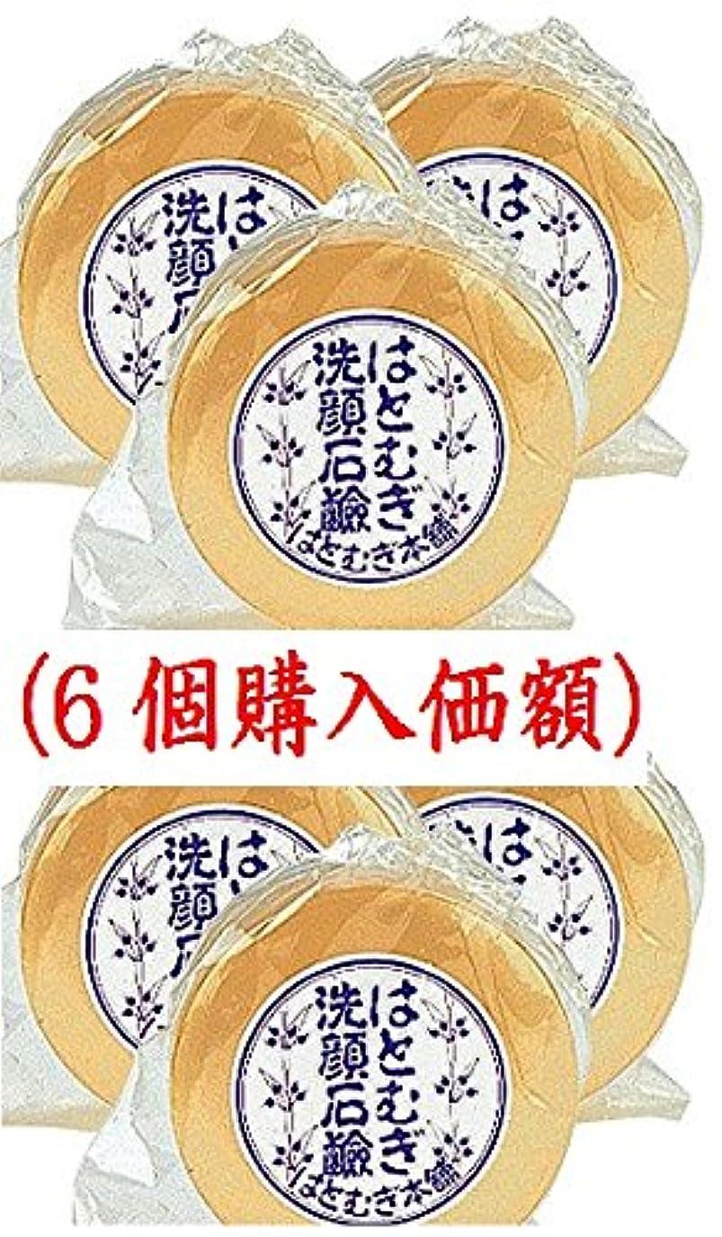 ペースト公使館シルクはとむぎ洗顔石鹸(6個購入価額)皇漢薬品研究所