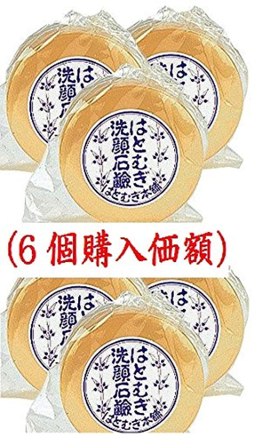 織機悔い改める苦行はとむぎ洗顔石鹸(6個購入価額)皇漢薬品研究所