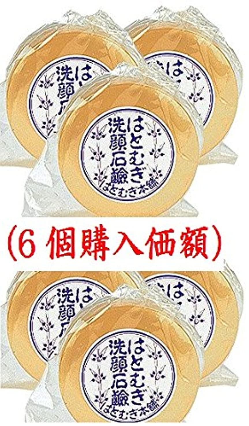 天国基準進化はとむぎ洗顔石鹸(6個購入価額)皇漢薬品研究所