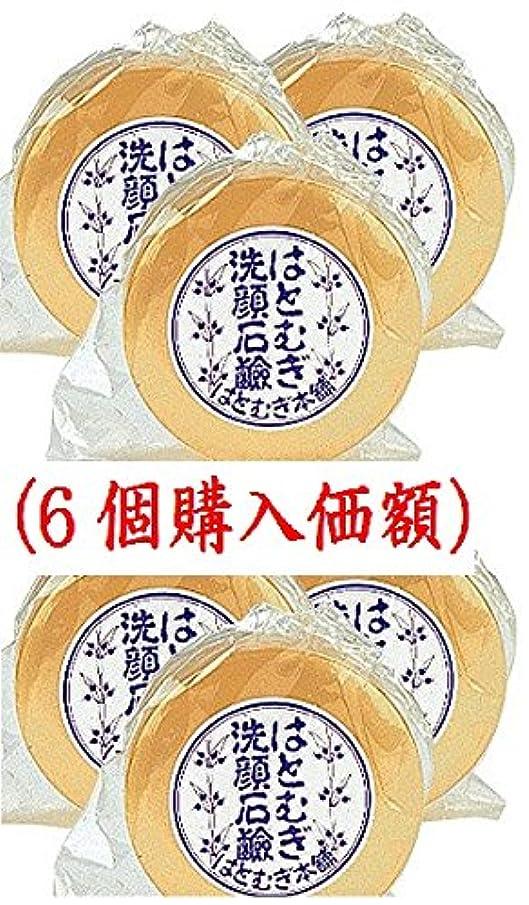政策娯楽翻訳はとむぎ洗顔石鹸(6個購入価額)皇漢薬品研究所