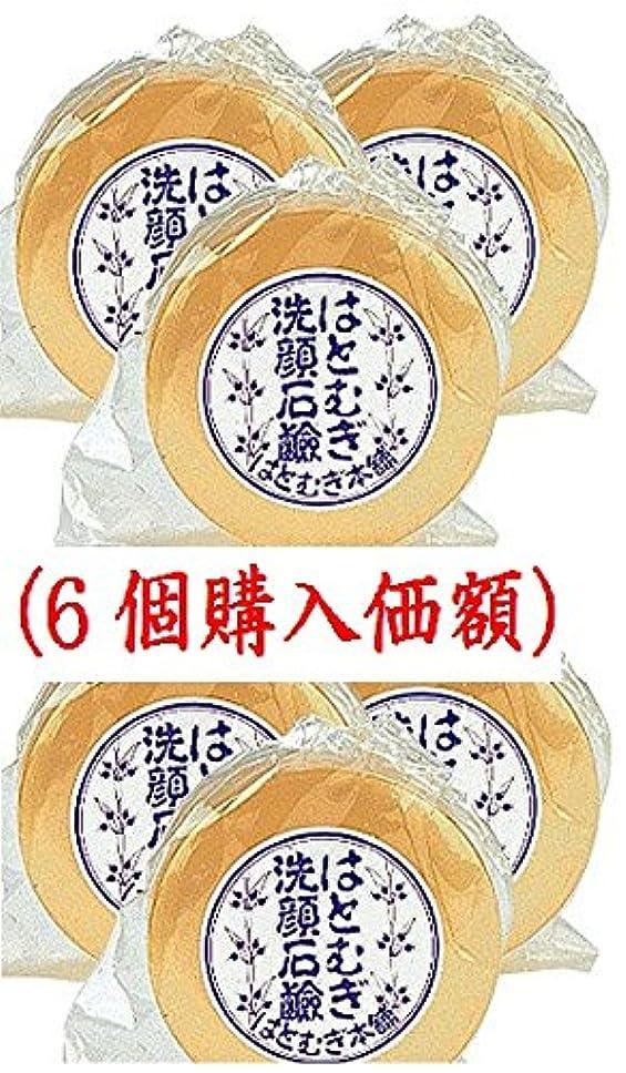 バケット災難資格はとむぎ洗顔石鹸(6個購入価額)皇漢薬品研究所