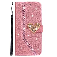 LoveBee Samsung Galaxy S Lite Luxury Edition Samsung Galaxy S8 財布 カード ホルダー 快適 Skins フォリオ PU レザー カバー 〜と Skins シェル の Samsung Galaxy S Lite Luxury Edition Samsung Galaxy S8-Pink