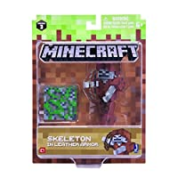Minecraft Skeleton in Leather Armor Pack 1 Figure [並行輸入品]