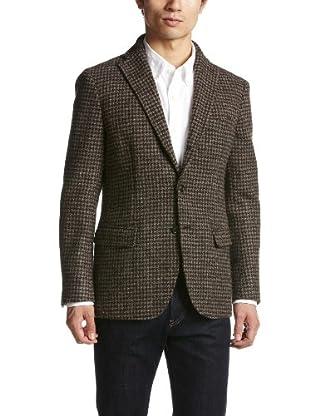 Houndstooth Tweed Jacket 1122-157-3489: Brown