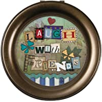 Carsonホームアクセント19867 Laugh with Friends Diane Dudeラウンド音楽ボックス、4.5-inch by 2.75-inch