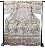 博多着物市場 きものしらゆり 新品 ロング寸 遠目にも映え全身を際立つ存在感で満たす豪華金通しの高級訪問着 仕立て上がり 正絹