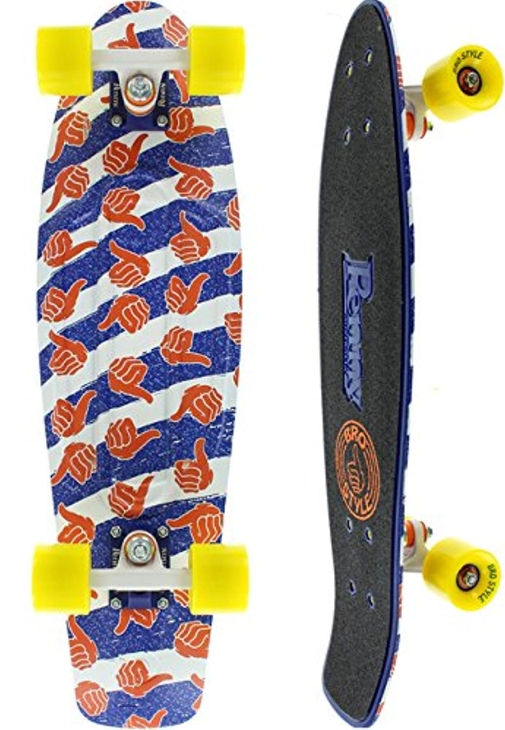 Penny Limited Edition Nickel Complete Skateboard, Bro Style, 27
