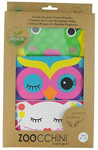 ズッキーニ (Zoocchini)【日本正規品】ショーツ オーガニックコットンGirls (2T/3T) - ガールズA イエロー/ブルー/ピンク 3枚セット ZOO1100