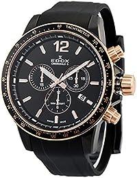 [エドックス]EDOX メンズ クロノラリーS クロノグラフ ブラック ラバー 10229-357NRCA-NIR 腕時計 [並行輸入品]