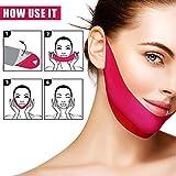 5ピースv形状リフトアップベルトフェイスリフティングファーミングマスクvラインチークチン痩身マスク用減量スキンケア美容ツール新しい