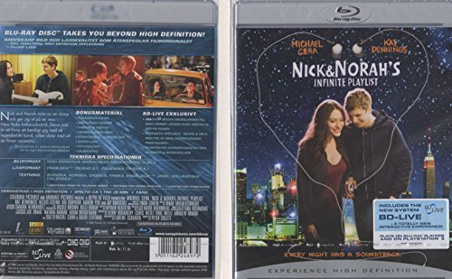 Nick & Norah's Infinite Playlist - Blu-Ray - Norwegian Import [ABC Region Free], New Sealed DVD