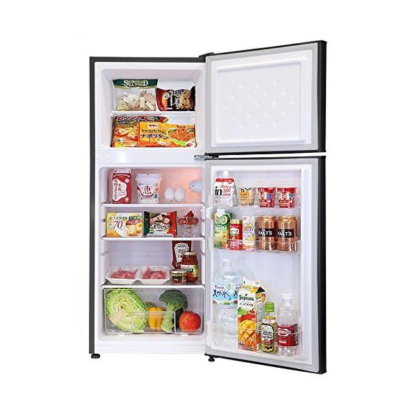 エスキュービズム 2ドア冷蔵庫 ブラック ドア...の紹介画像2