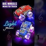 "Light Up King Monster Truck with鮮やかな点滅LEDタイヤ、6""スケールサイズ、ライト&音楽シリーズ、実行する準備、ultra-fun Friction Powered Toy Truck男の子と女の子両方に。素晴らしい存在になります。"