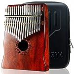 Moozica 17音のアカシア指ピアノ、高品質の17キームビラカリンバ
