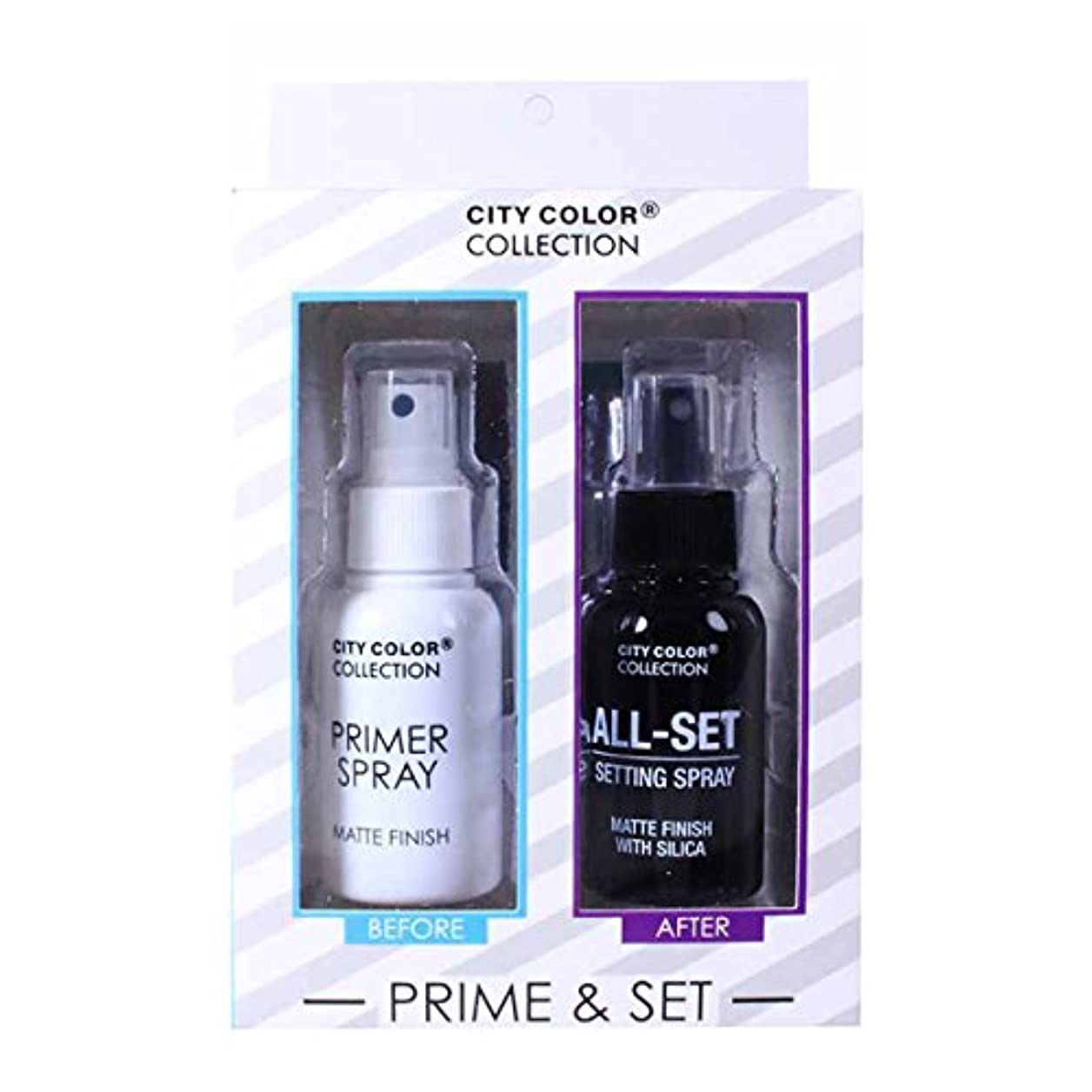 使い込む精算精算(3 Pack) CITY COLOR Collection Primer & Matte Setting Spray Set (並行輸入品)