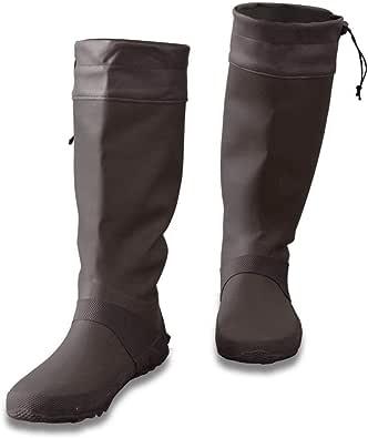 [フィールドア] レインブーツ 【19cm / ブラウン】 収納袋付 男女兼用 キッズ 長靴 ドローコード コンパクト収納